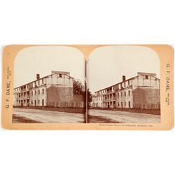 "Stereoview- 1st Hotel Built in California, ""Washington Hotel."""