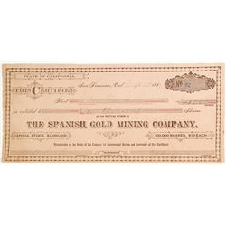 Spanish Gold Mining Company, Nevada City, Nevada County