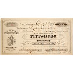 Pittsburg Gold Mining Company Stock