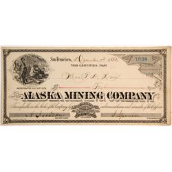 Alaska Mining Company Stock, Pike City, Sierra County
