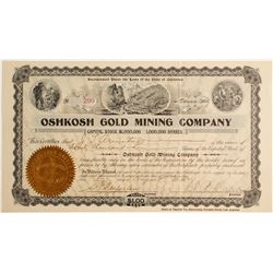 Oshkosh Gold Mining Co. Stock Certificate