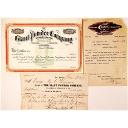 Giant Powder Company Document Group (3)