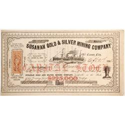 Susanah Gold & Silver Mining Company Stock
