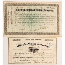 Sykes Placer Mining Company Stock