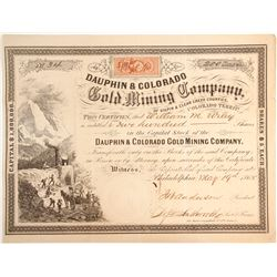Dauphin & Colorado Gold Mining Company Stock