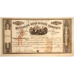 Reynolds Gold Mining Company of the city of New York Stock