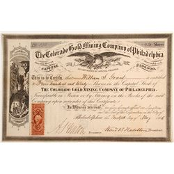 Colorado Gold Mining Company of Philadelphia Stock