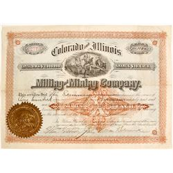 Colorado and Illinois Milling and Mining Stock