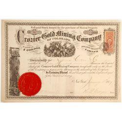 Crozier Gold Mining Company of Colorado Stock