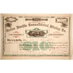 Union Pacific Consolidated Mining Co. of Colorado Certificate