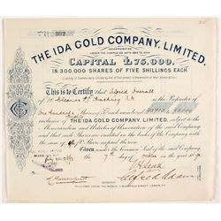 Ida Gold Company, Limited Stock