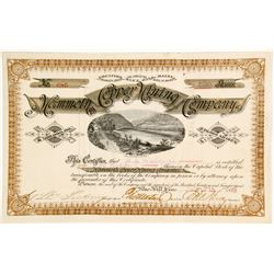 Mammoth Copper Mining Company - One Of Maine's best Stock Certificates
