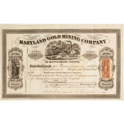 Maryland Gold Mining Company of Montgomery County Stock