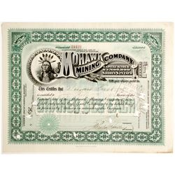 Mohawk Mining Company Stock Certificate