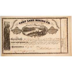 Carp Lake Mining Stock