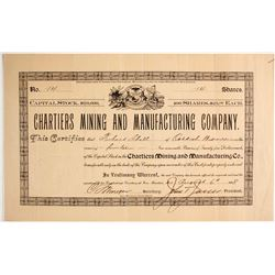 Chartiers Mining and Manufacturing Stock