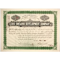 Erie-Ontario Development Stock