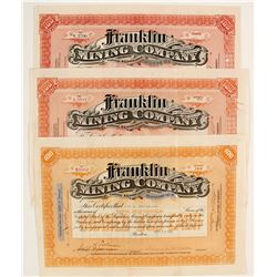 Franklin Mining Co. Stocks (3)