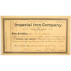 Imperial Iron Mine Stock