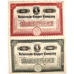 Keweenaw Copper Co. Stocks (2)