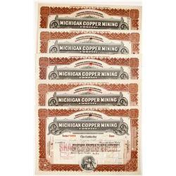 Michigan Copper Mining Co. Stocks (5)