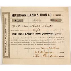Michigan Land and Iron Co. Stock