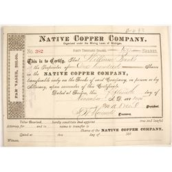 Native Copper Co. Stock