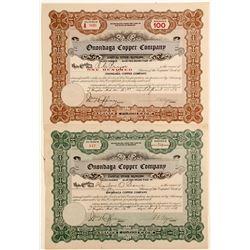 Onondaga Copper Stocks, 2 Different