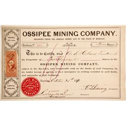 Ossipee Mining Co. Stock