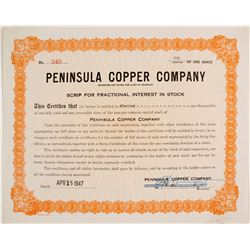 Peninsula Copper Co. Stock