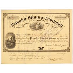 Pewabic Mining Co of Michigan Stock