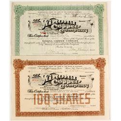 Winona Copper Co. Stocks (2)