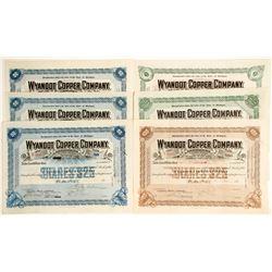 Wyandot Copper Co. Stocks, 6 Different