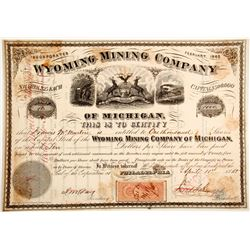 Wyoming Mining Co. of Michigan Stock
