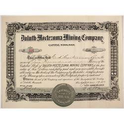 Duluth Moctezuma Mining Stock