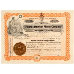 Finnish American Mining Co. Stock