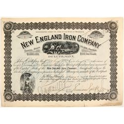 New England Iron Co. Stock