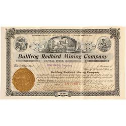 Bullfrog Redbird Mining Company Stock Certificate