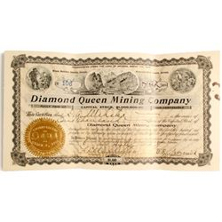 Diamond Queen Mining Stock Certificate