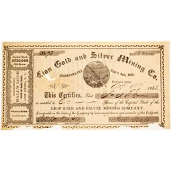 Lion County Gold and Silver Mining Company Stock