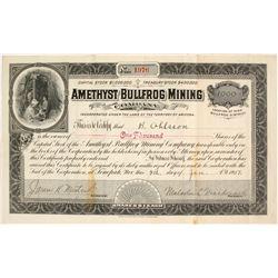 Amethyst Bullfrog Mining Company Stock Certificate