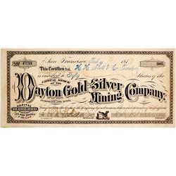 Dayton Gold & Silver Mining Company Stock