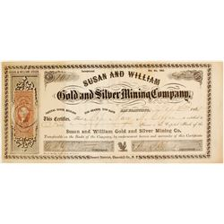 Susan and William Gold and Silver Mining Company Stock