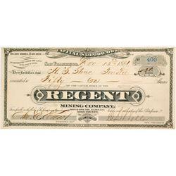 Regent Mining Company Stock