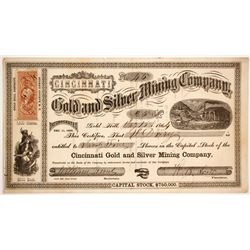 Cincinnati Gold and Silver mIning Company Stock