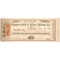Coppers Gold & Silver Mining Company Stock