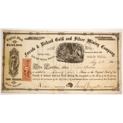 Forcade & Rickard Gold and Silver Mining Company Stock