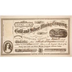 Jenny Lind Gold & Silver Mining Company Stock