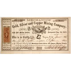 Mechanics Gold, Silver and Copper Mining Company Stock