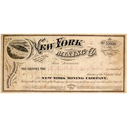 New York Mining Company Stock